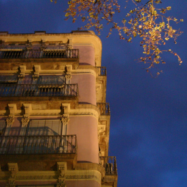 """Barcelona evening"" stock image"