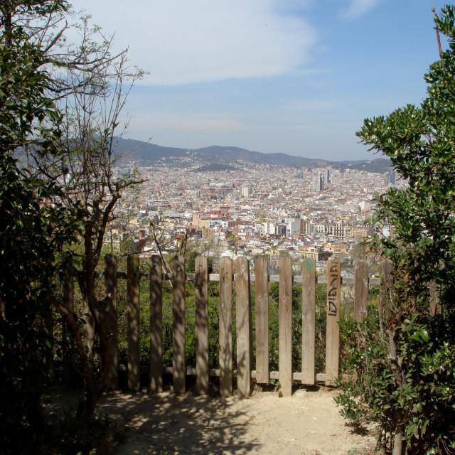 """Barcelona fence"" stock image"