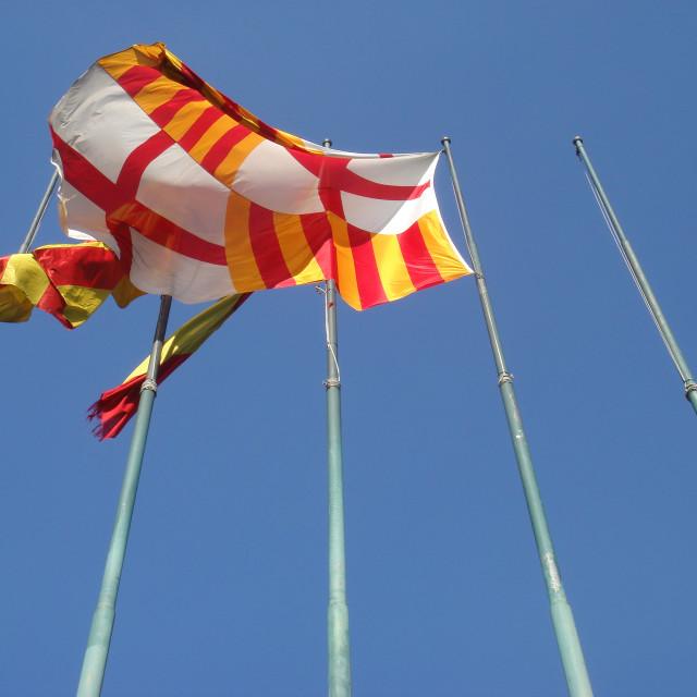 """flags, BCN"" stock image"