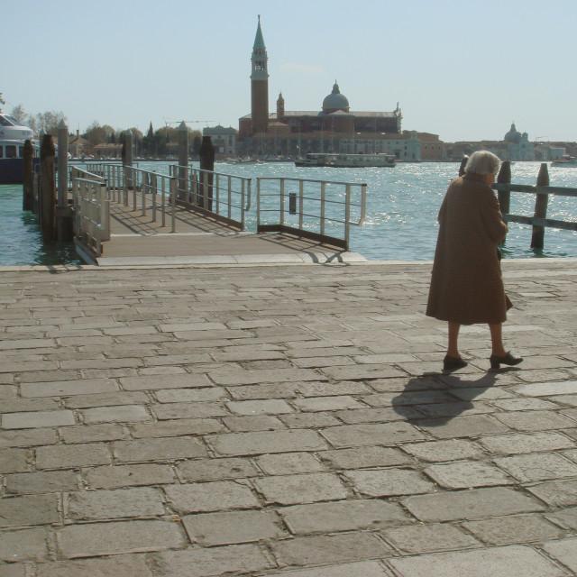 """Venice walk"" stock image"