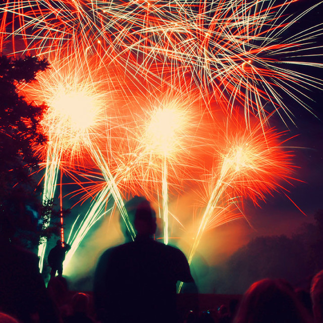 """""""Fire Works"""" stock image"""