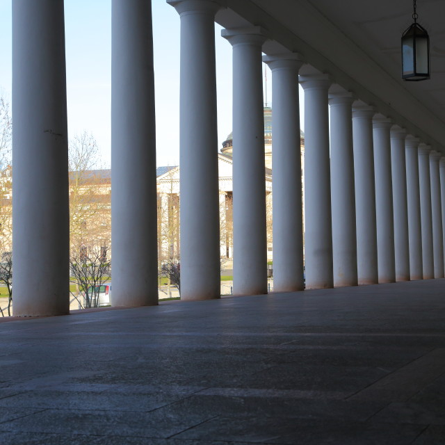 """Colonnade"" stock image"