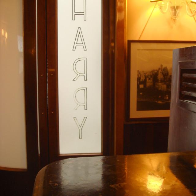 """Harry's bar"" stock image"