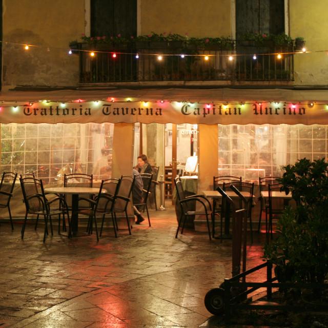"""Venice taverna"" stock image"