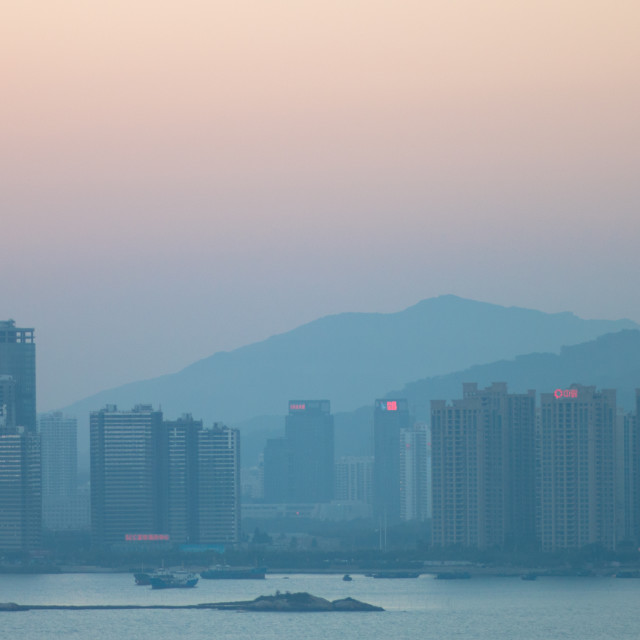 """Haicang Skyline at Dusk"" stock image"
