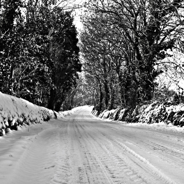 """Winter Lane"" stock image"