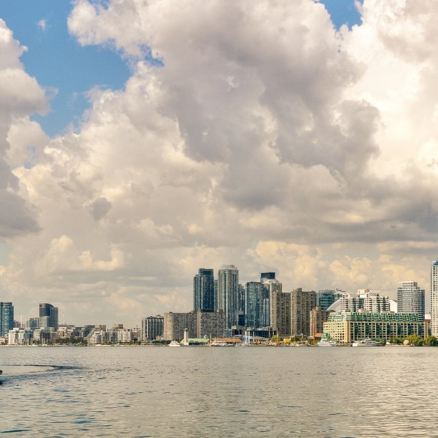 """Toronto from Ward's Island."" stock image"