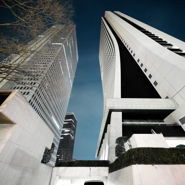 """tokyo skyscrapers"" stock image"