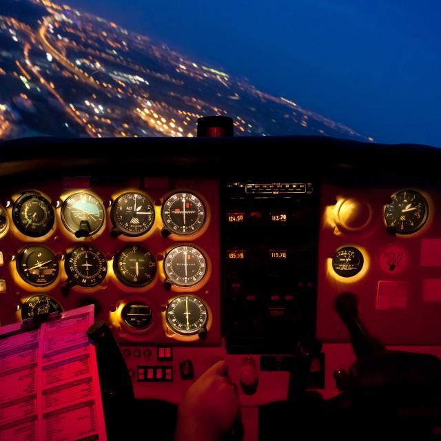 """Night Flight"" stock image"