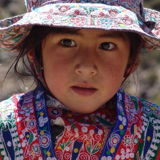 """""""Peruvian Girl"""" stock image"""
