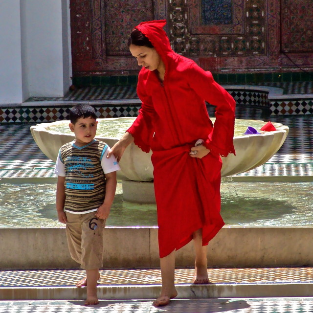 """Moroccan Mother & Child"" stock image"