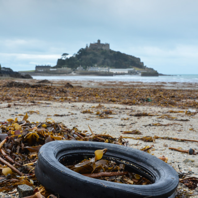"""St Michael's Mount, Rubbish"" stock image"