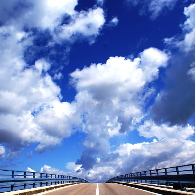 """Bridge and sky"" stock image"