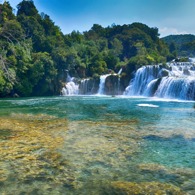 """""""Waterfall of the Krka River"""" stock image"""