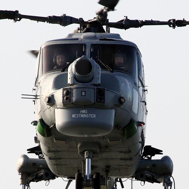 """HMS Westminster Lynx"" stock image"