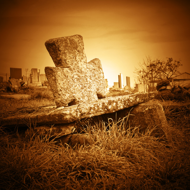 """""""Old cemetery"""" stock image"""