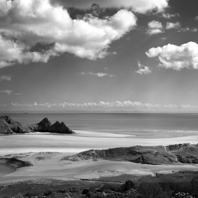 """Cloudscape at Three Cliffs"" stock image"