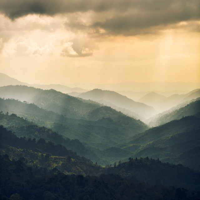 """Green Mountain"" stock image"