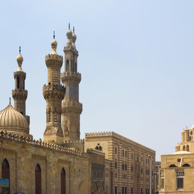 """Minarets of Al Azhar University in Cairo"" stock image"