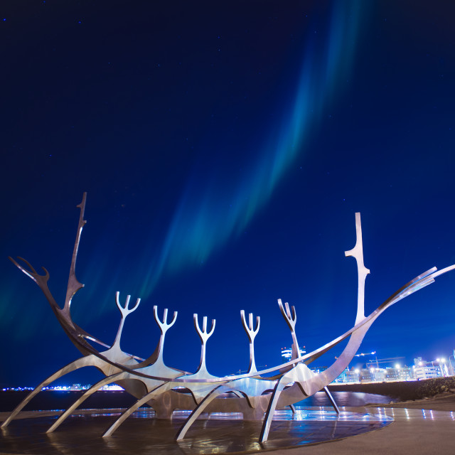 """The Sun Voyager - Iceland"" stock image"