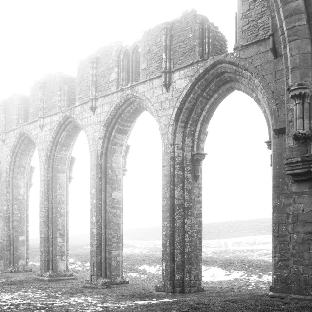 """Llanthony Priory"" stock image"