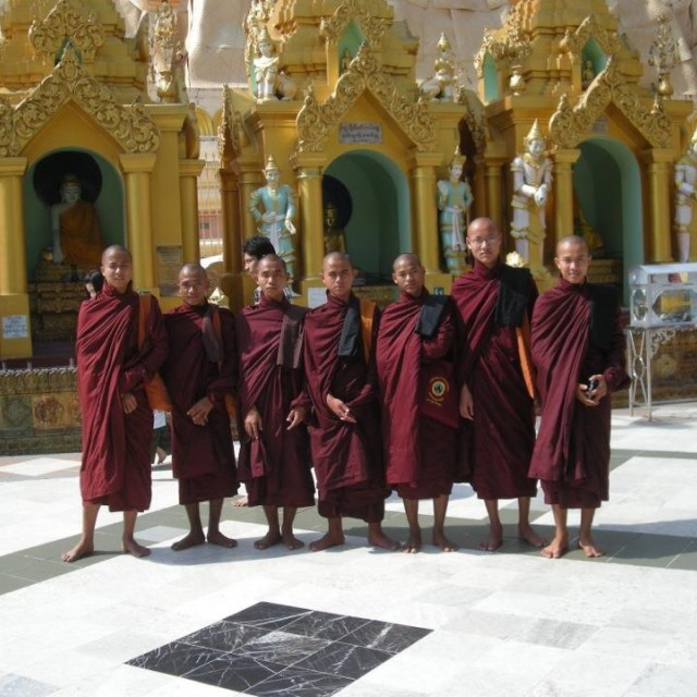 """Burmese Monks"" stock image"