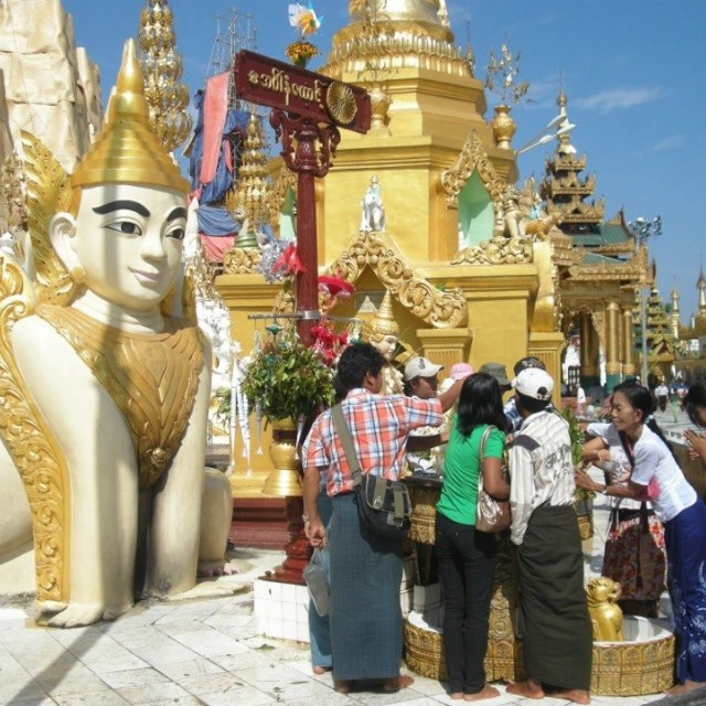 """Burmese Temples"" stock image"