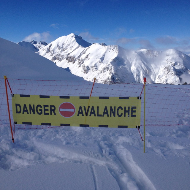 """Danger: avalanche"" stock image"