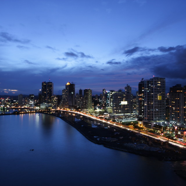 """Panama City At Night"" stock image"