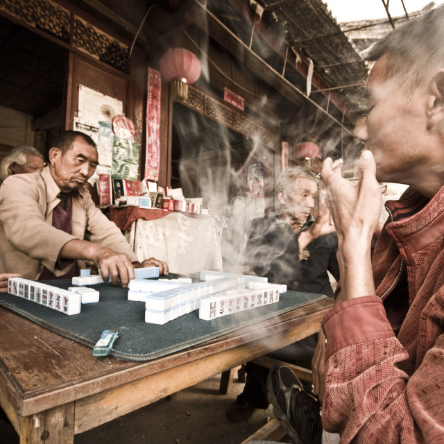 """Men in Baisha Playing"" stock image"