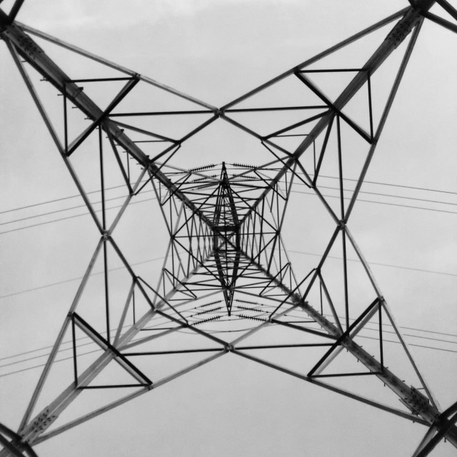 """Power Transmission Tower Abstract"" stock image"