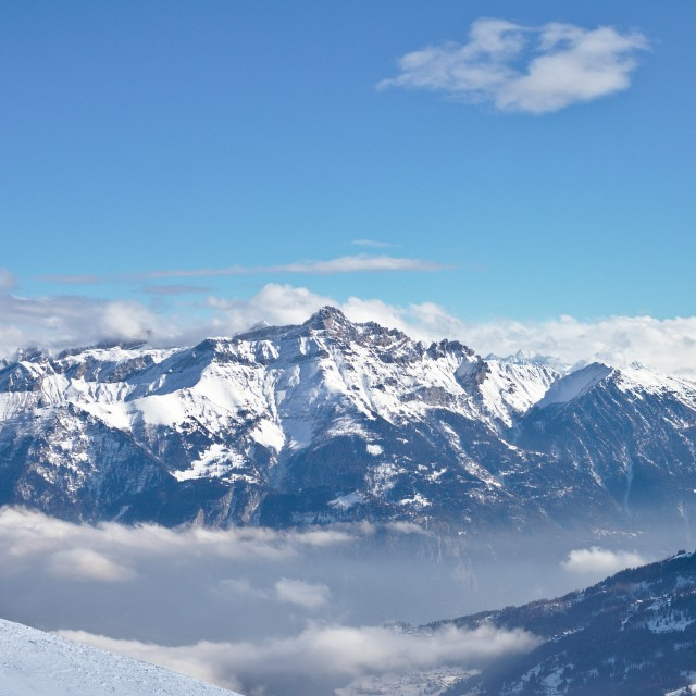 """French Alps"" stock image"