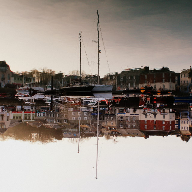 """""""Padstow upside-down"""" stock image"""