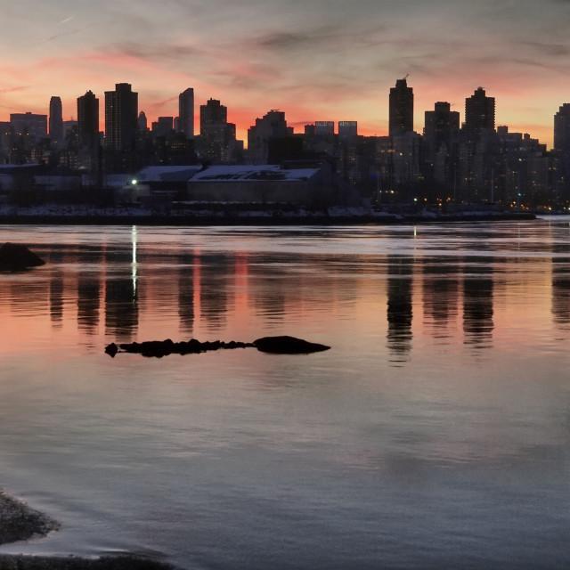 """Sunset Over Manhattan II"" stock image"