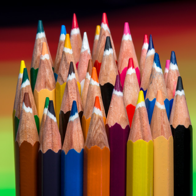"""Coloured Pencils"" stock image"