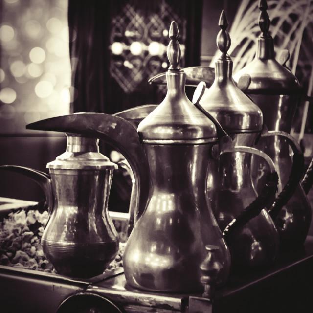 """Arabian Coffee Dellal"" stock image"