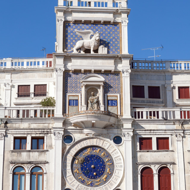 """The Clock Tower in Venice"" stock image"