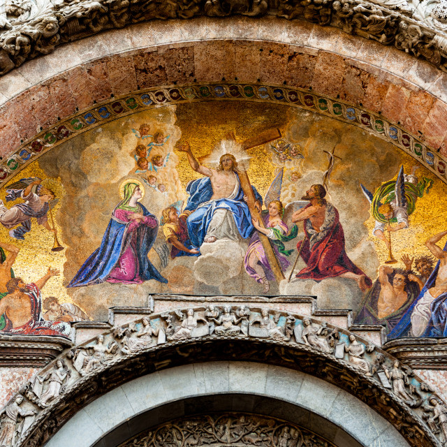 """Judgement Day mosaic at St Marks in Venice"" stock image"