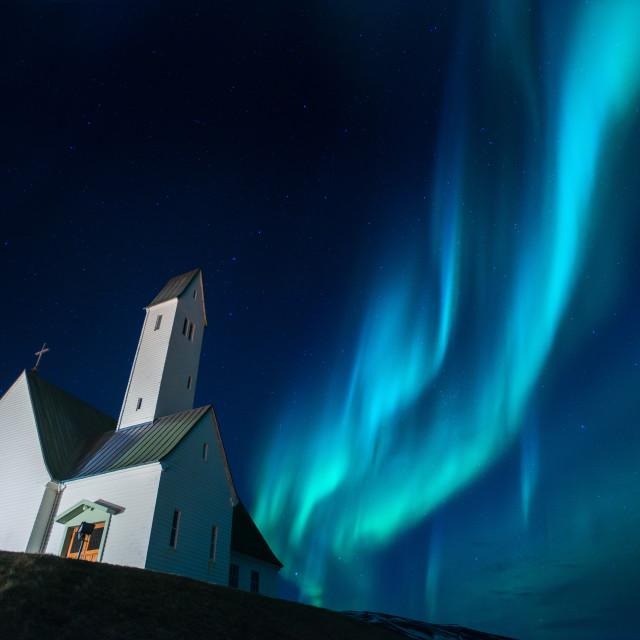 """Glymur Church - Iceland"" stock image"