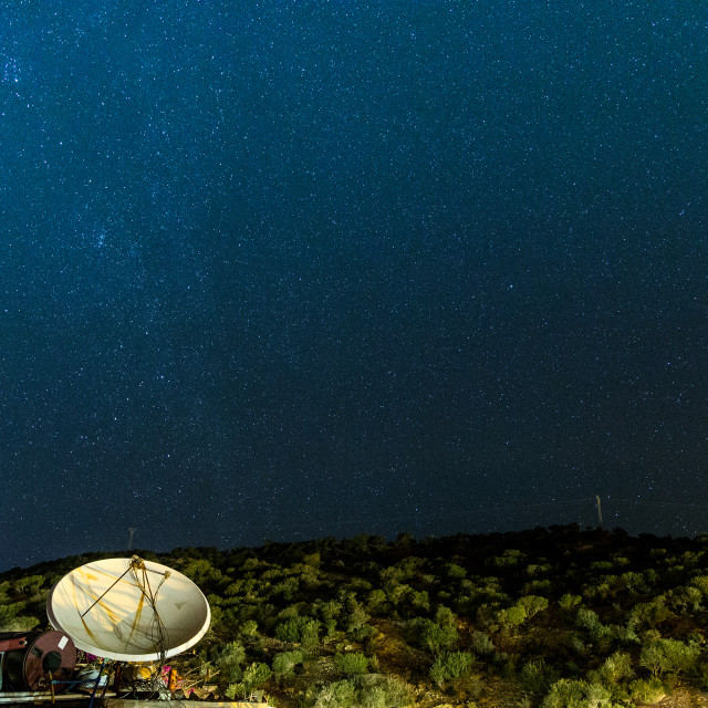 """Satellite dish and Stars"" stock image"