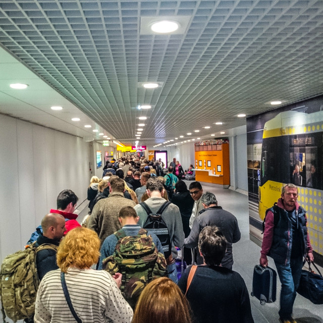 """Terminal queue"" stock image"