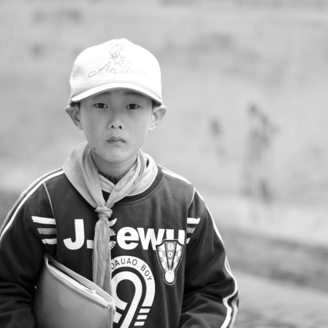"""Boy in Beijing Hutongs"" stock image"