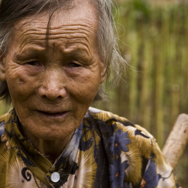"""""""Chinese Lady in Yangshuo (China)"""" stock image"""