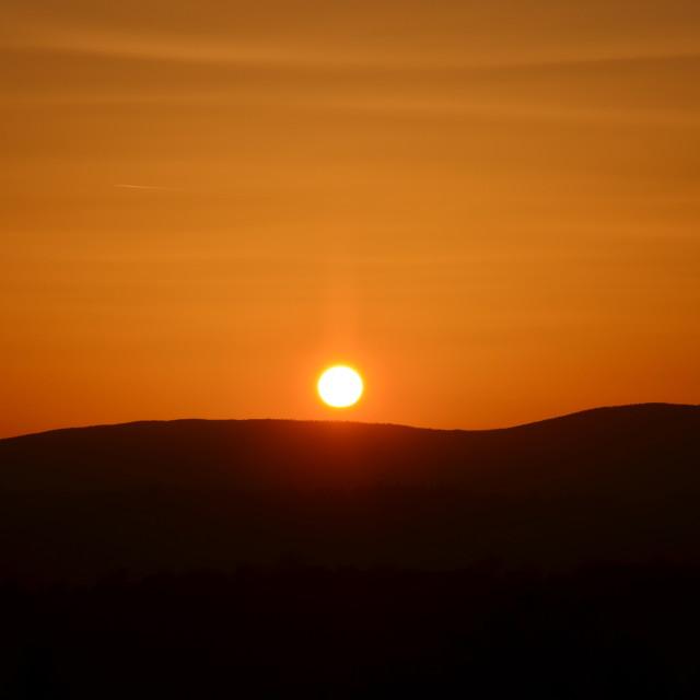 """""""Orange Sky"""" stock image"""