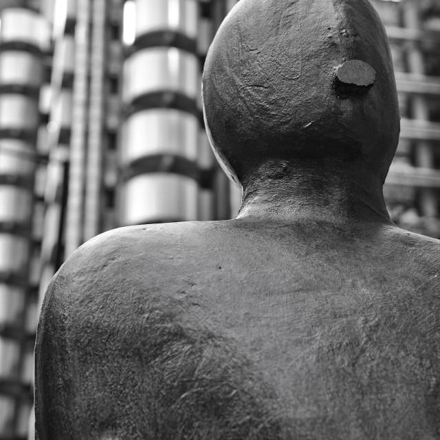 """Parallel Field by Antony Gormley"" stock image"