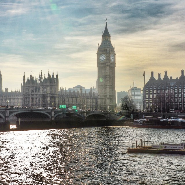 """River Thames and the House of Commons"" stock image"