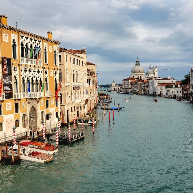 """Palazzo Cavalli-Franchetti and the Grand Canal"" stock image"