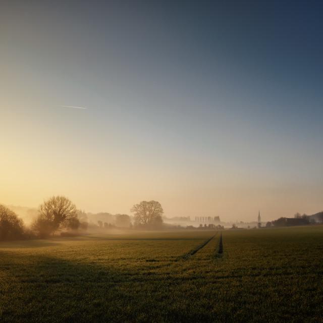 """Sunrising Over Salisbury"" stock image"