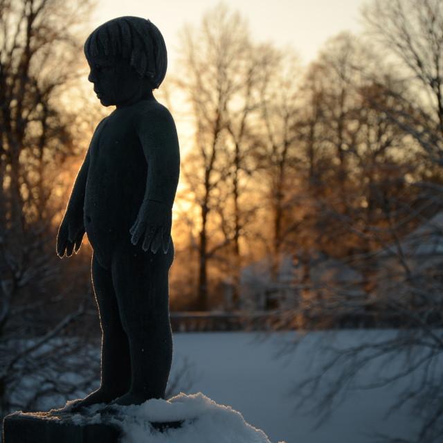 """Frozen Statue"" stock image"