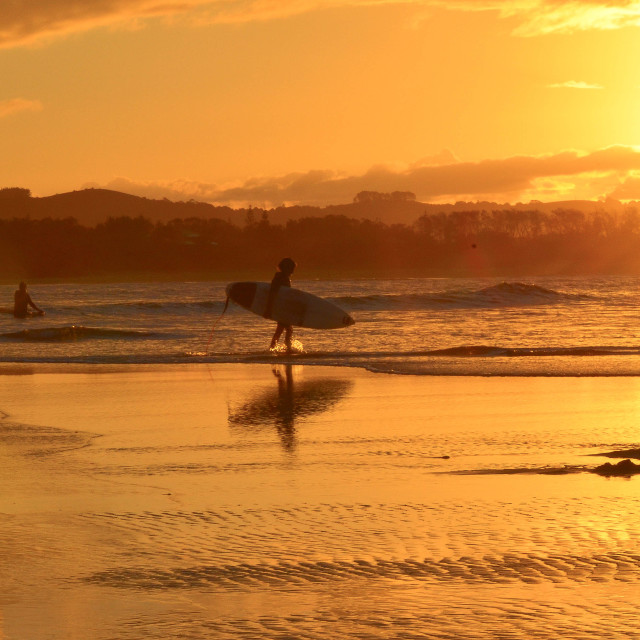 """sunset surfer."" stock image"